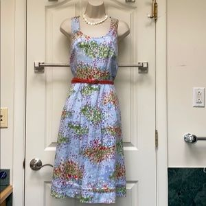 Liz Claiborne 💯 % linen multicolored 👗 dress